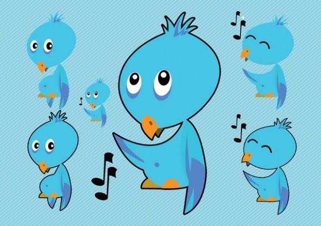 Vecteurs d'oiseaux twitter
