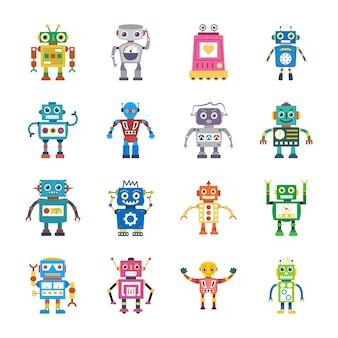 Vecteurs plats de technologie humanoïde