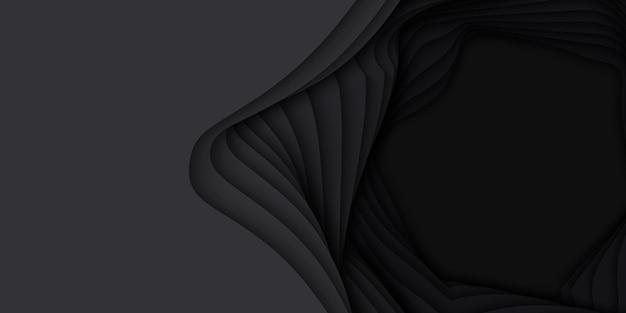 Vector 3d abstrait avec forme de papier découpé.