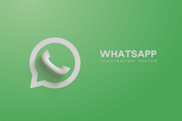 Vector 3d whatsapp avec couleur vert clair