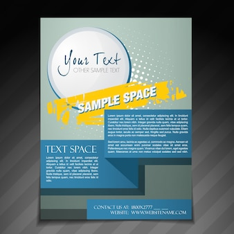 Vector abstract brochure flyer poster template design