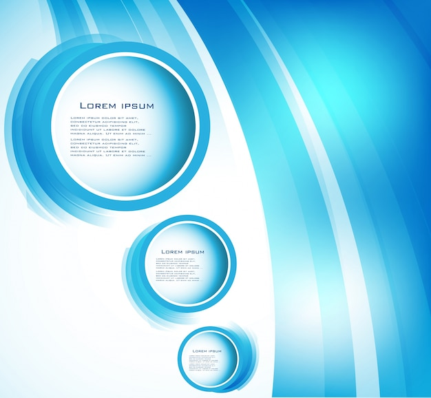 Vector abstract circle blue. courbe