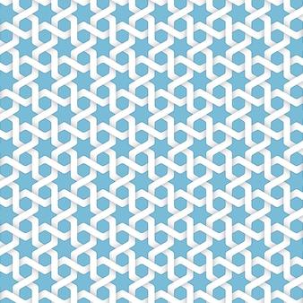 Vector abstract geometric islamic background. basé sur des ornements ethniques musulmans. rayures en papier entrelacées. fond élégant pour cartes, invitations, etc.