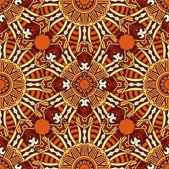 Vector abstrait ethnique indien automne modèle sans couture tribal