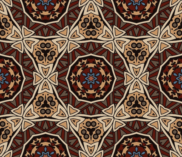 Vector abstrait ethnique vintage transparente motif tribal fond