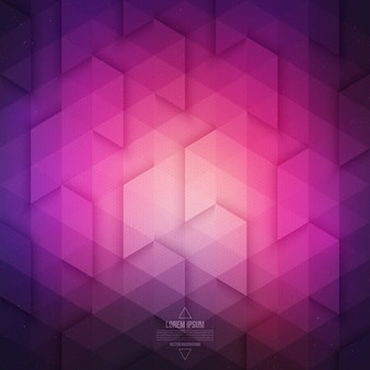 Vector abstrait géométrique de la technologie. fond violet violet de vecteur.