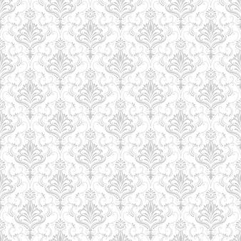 Vector background damask seamless pattern. ornement classique en damas à l'ancienne, texture victorienne sans soudure pour papiers peints, textile, emballage. modèle baroque floral exquis.