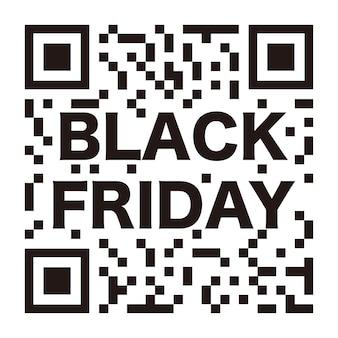 Vector black friday qr code avec logo black friday isolé sur fond blanc