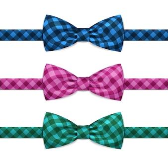 Vector bow tie bowtie set isolé sur blanc