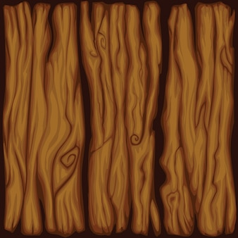 Vector cartoon planche de bois texture