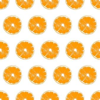 Vector cut motif orange sur fond blanc