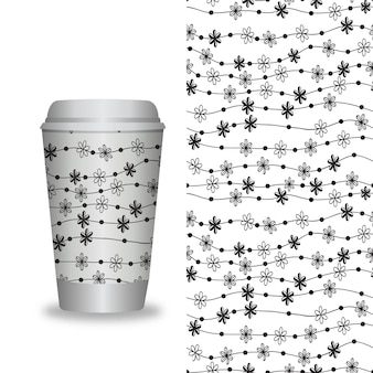 Vector emporter des modèles d'emballage de café et des éléments de conception pour les cafés