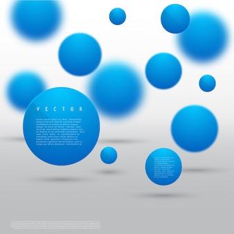 Vector forme géométrique abstraite des cercles bleus.