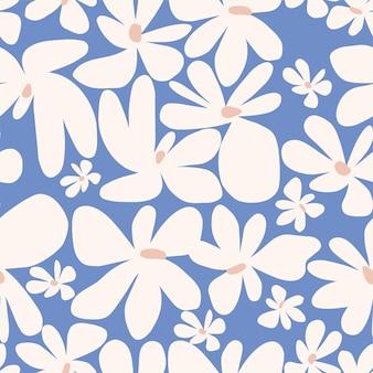 Vector illustration de fleur de scandinavie simple et mignon motif de répétition sans couture décoration d'été