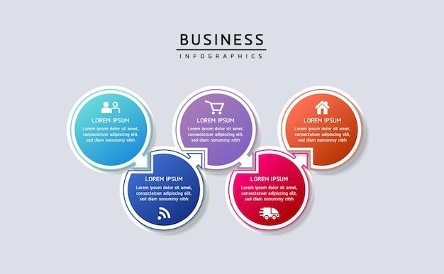 Vector illustration infographie modèle de conception d'informations marketing