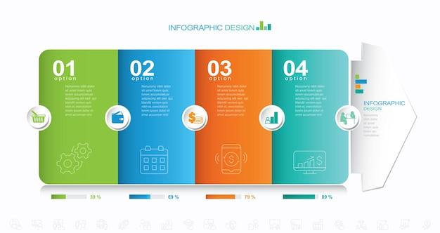 Vector infographie modèle stock illustration image multiple progrès infographie