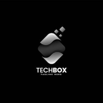 Vector logo illustration boîte style coloré dégradé