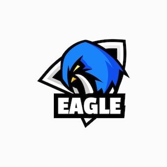 Vector logo illustration eagle e sport et style sport