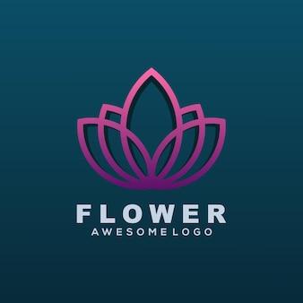 Vector logo illustration fleur style art ligne