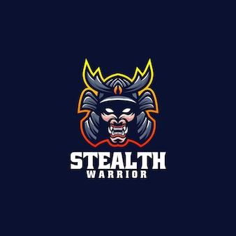 Vector logo illustration stealth warrior e sport et style sport