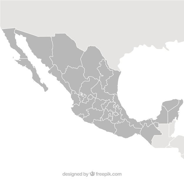 Vector map mexique