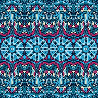 Vector motif festif abstrait sans couture ethnique