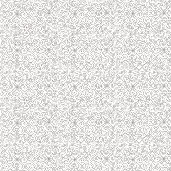 Vector seamless pattern transparent avec des tourbillons.