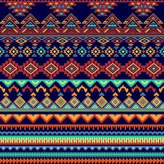 Vector seamless style tribal