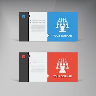 Vector set ui design trend set business