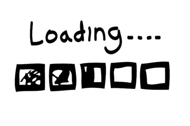 Vector simple hand draw sketch loading ou barre de progression