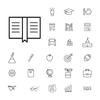 Vector ui illustration education concept d'étude scolaire