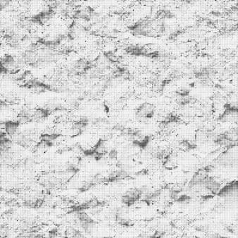Vector vintage rock pierre surface noir et blanc monochrome demi-teinte abstrait décoration réaliste texture d'arrière-plan