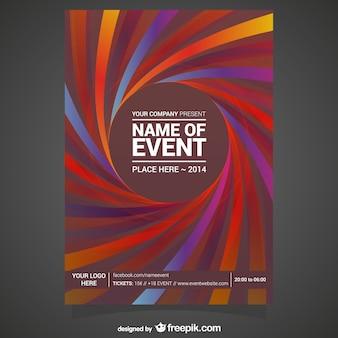 Vectoriel éditable affiche gratuite conception abstraite