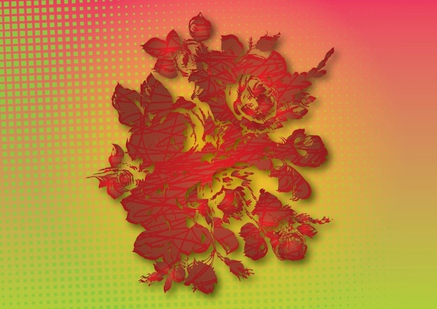 Vectoriel imprimé fleurs