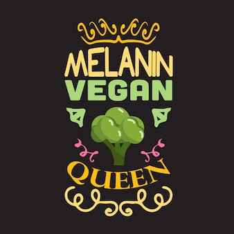 Vegan quote and saying good for design collections