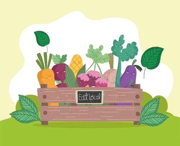 Végétalbes mignons dans le panier