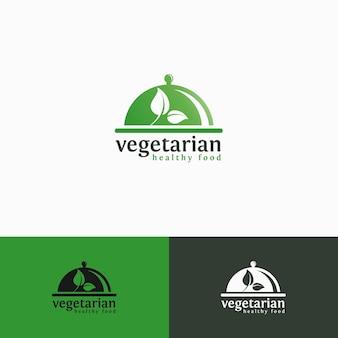 Végétarien - modèle de logo de nourriture saine