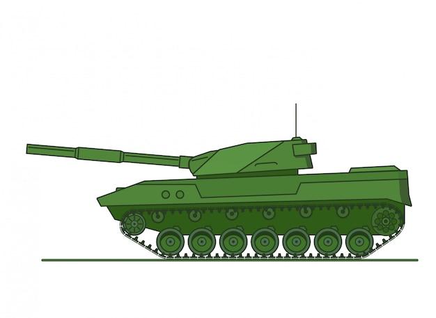 Véhicule d'artillerie militaire blindé blindé.