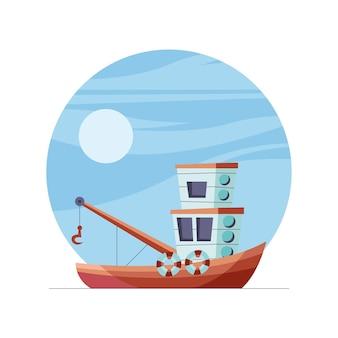 Véhicule bateau de pêche