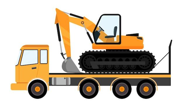 Véhicule d'excavatrice sur camion avec un beau look