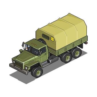 Véhicule militaire pour illustration d'actif de jeu pixel art de guerre