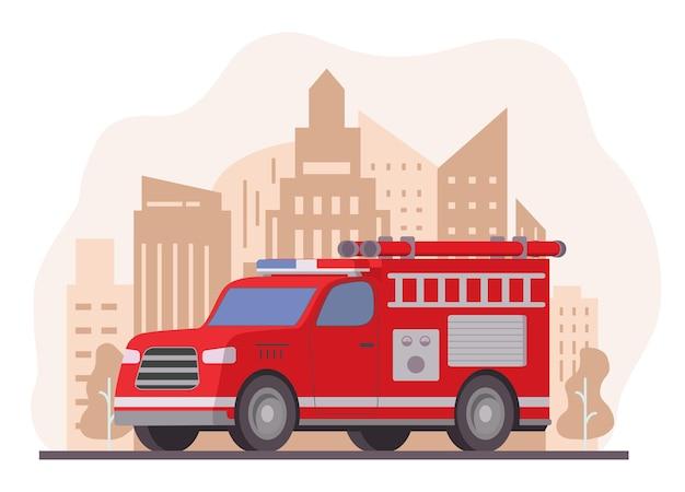 Véhicule rouge de service d'urgence