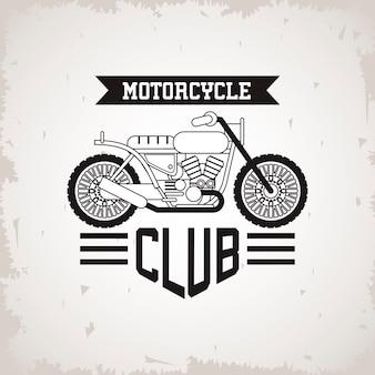 Véhicule de style moto brat avec illustration de cadre de lettrage