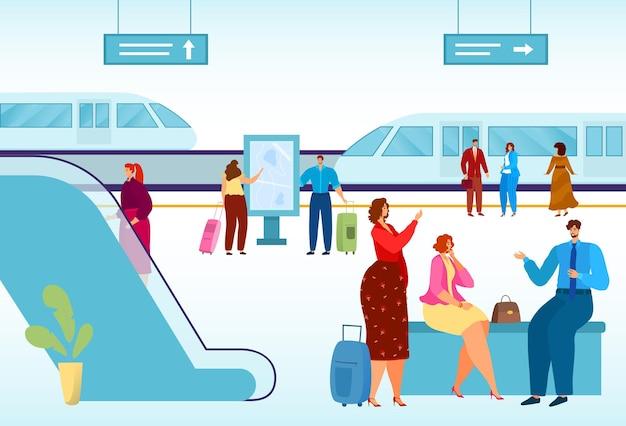 Véhicule urbain sur rails illustration