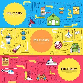 Véhicules sur modèle de base militaire de flyer