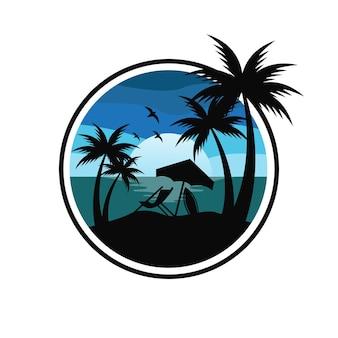 Vektor desain logo pantai illustration vectorielle