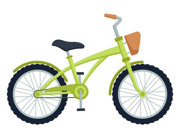 Vélo enfant sur fond blanc. vélo pour enfants, illustration vectorielle