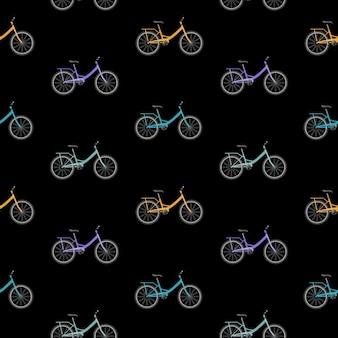 Vélo de fond sans couture.