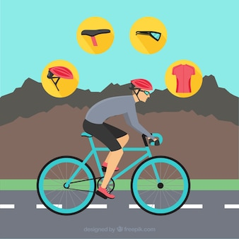 Vélo de montagne vecteur paquet