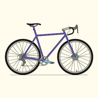 Vélo de sport, icône de contour, fond blanc.